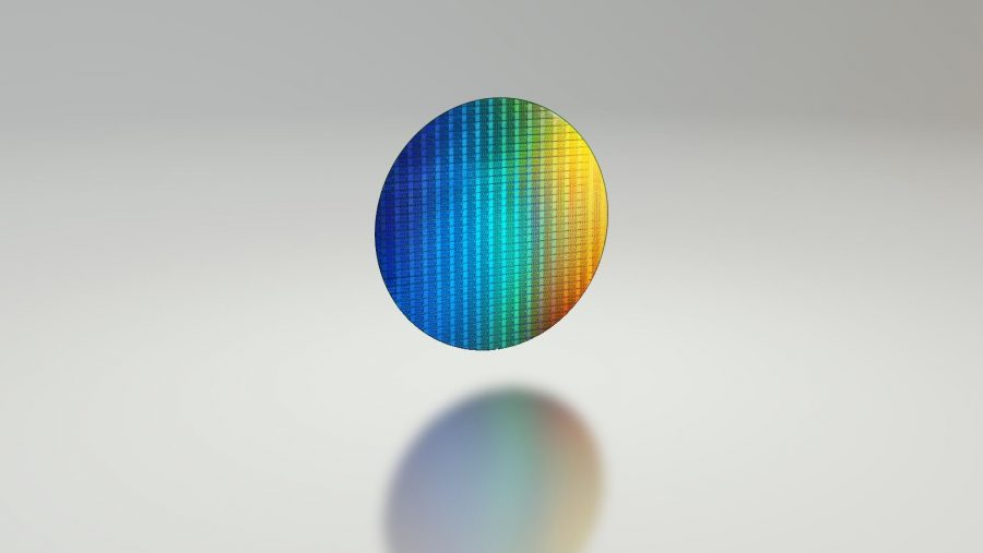 Intel CPU wafer