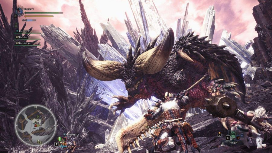 Monster Hunter World flying dragon
