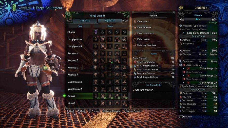 Monster Hunter armour - Kirin