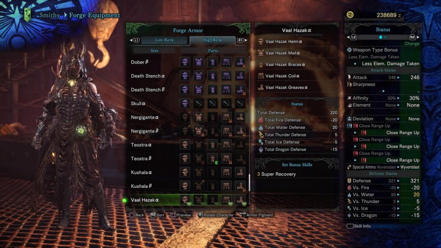 Monster Hunter armour - Vaal Hazak