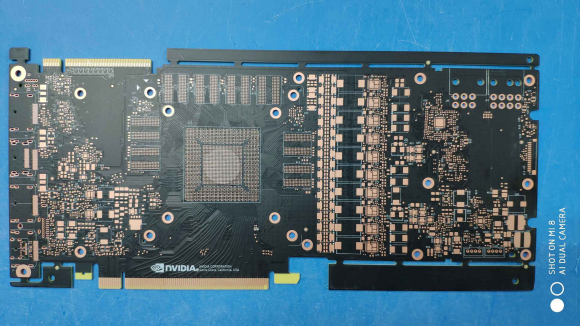Unreleased Nvidia graphics card PCB