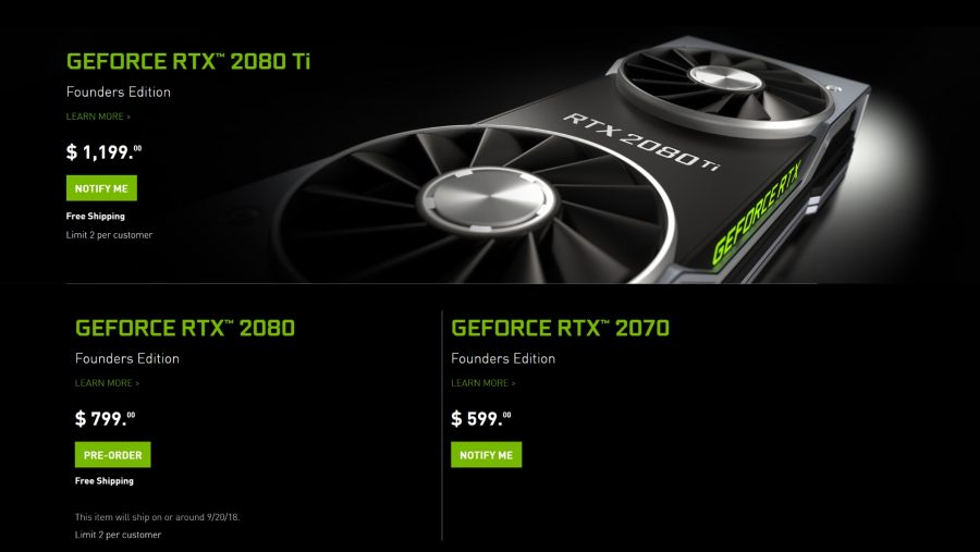 Nvidia RTX pricing