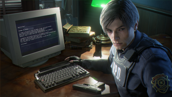 Resident Evil RE2 typewriter Racoon City Police