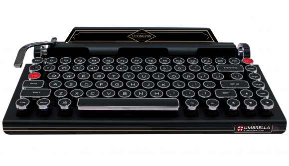 Resident Evil RE2 typewriter mechanical keyboard