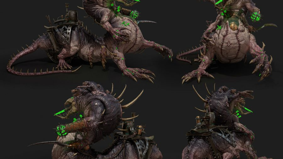 Total War Warhammer 2 Hell Pit Abomination renders