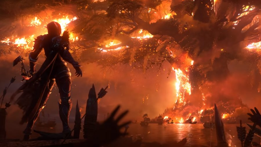World of Wacraft Sylvanas burning