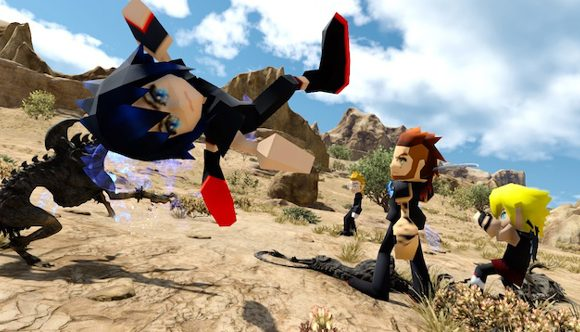 Final Fantasy XV as it was meant to be played – with PS1 character