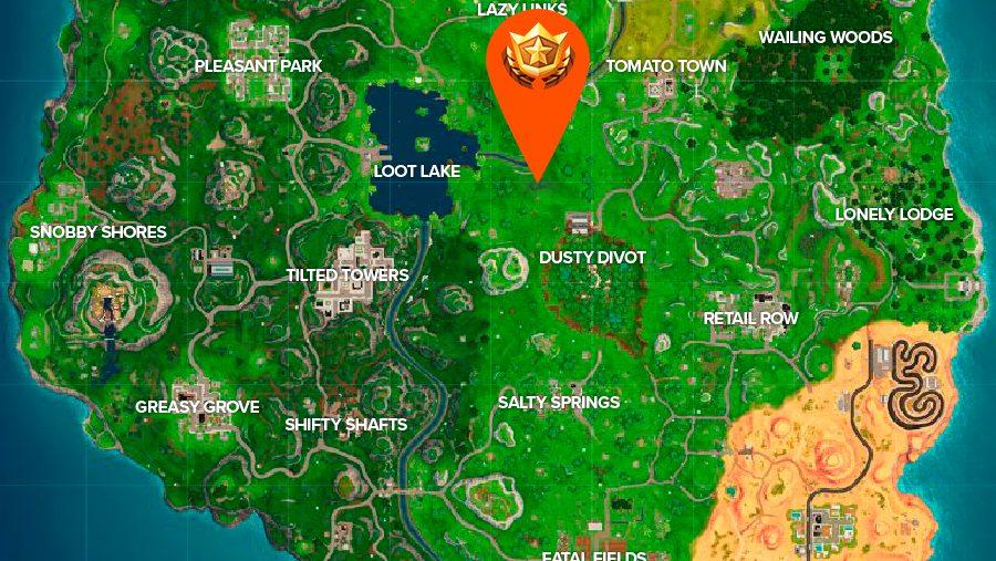 fortnite pleasant park treasure map location where