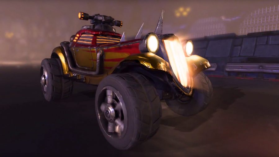 An aggressive looking car in Heavy Metal Machines, one of the best free Steam games