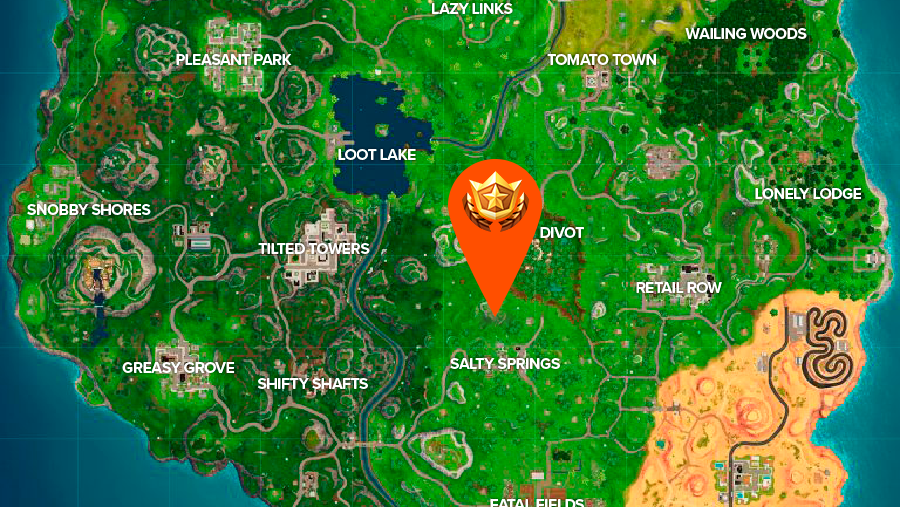 Fortnite Shifty Shafts treasure map location