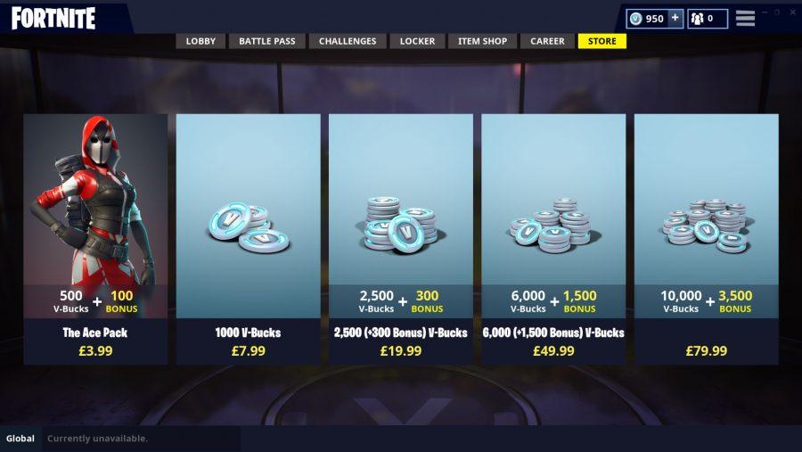 Fortnite V Bucks prices