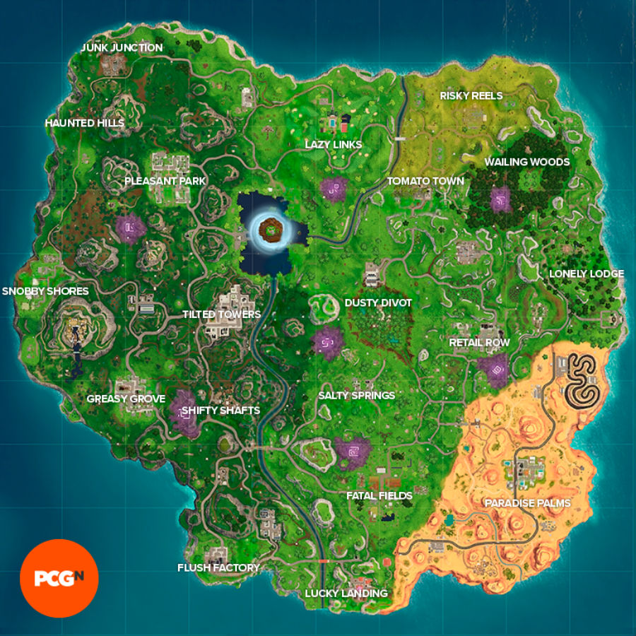 Fortnite season 6 map