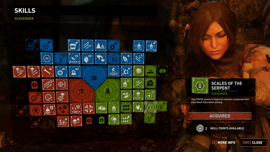 Shadow of the Tomb Raider skill tree