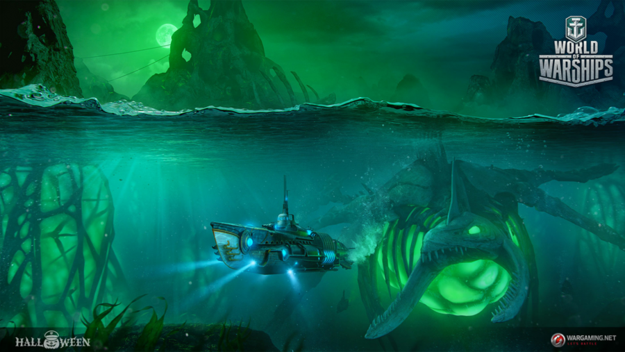 World of Warships gets submarines and giant sea monsters for
