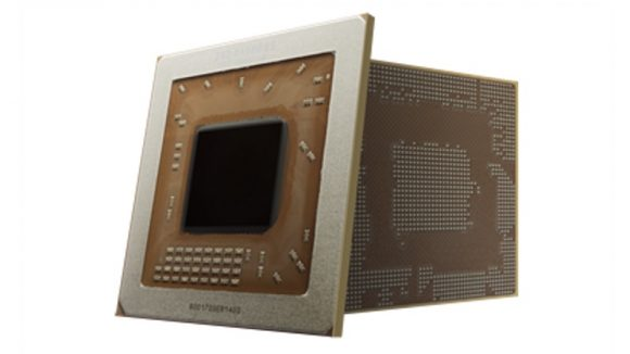 The previous, larger KX-5000 chip