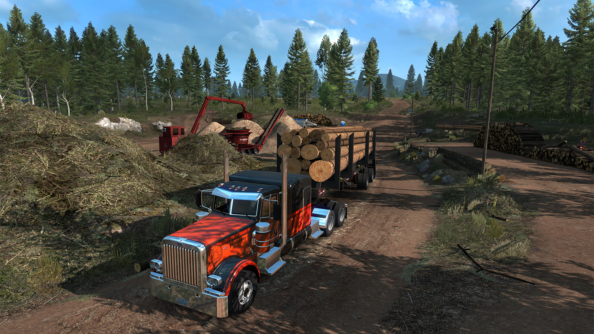 american truck simulator heads to oregon this october. Black Bedroom Furniture Sets. Home Design Ideas