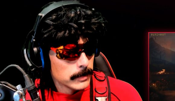 Twitch personality Dr. DisRespect's home shot at during a livestream