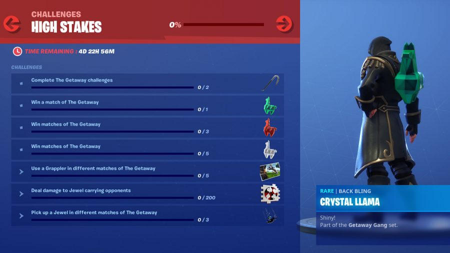 fortnite high stakes challenges
