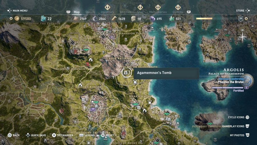 All Assassins Creed Odyssey Tomb locations - Agamemnons Tomb