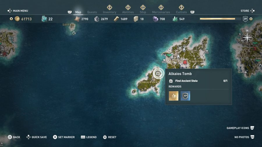 All Assassins Creed Odyssey Tomb locations - Alkaios Tomb