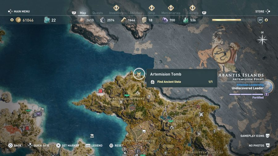 All Assassins Creed Odyssey Tomb locations - Artemision Tomb