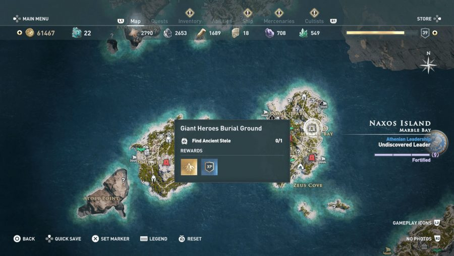 All Assassins Creed Odyssey Tomb locations - Giant Heroes Burial Ground