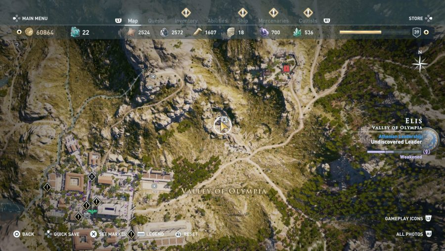 All Assassins Creed Odyssey Tomb locations - Oinomoaos