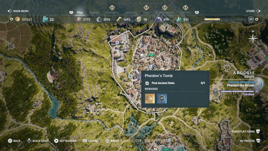 All Assassins Creed Odyssey Tomb locations - Pheidons Tomb