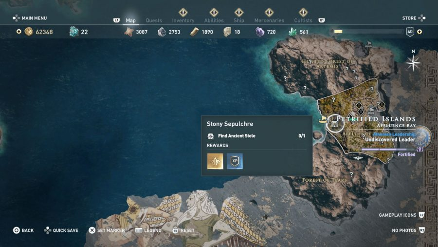 All Assassins Creed Odyssey Tomb locations - Stony Sepulchre