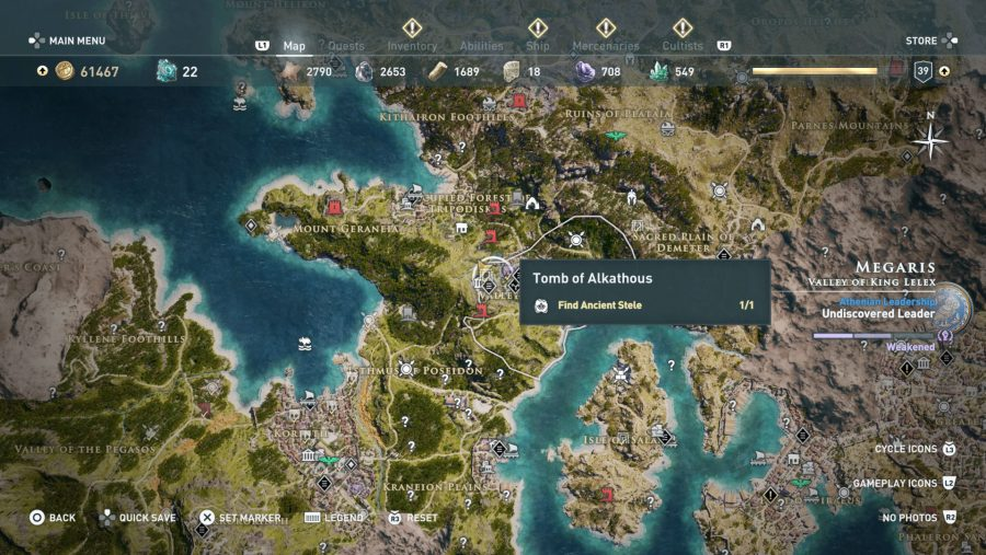 All Assassins Creed Odyssey Tomb locations - Tomb of Alkathous