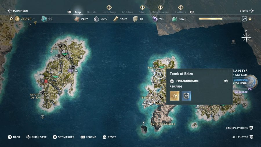 All Assassins Creed Odyssey Tomb locations - Tomb of Brizo