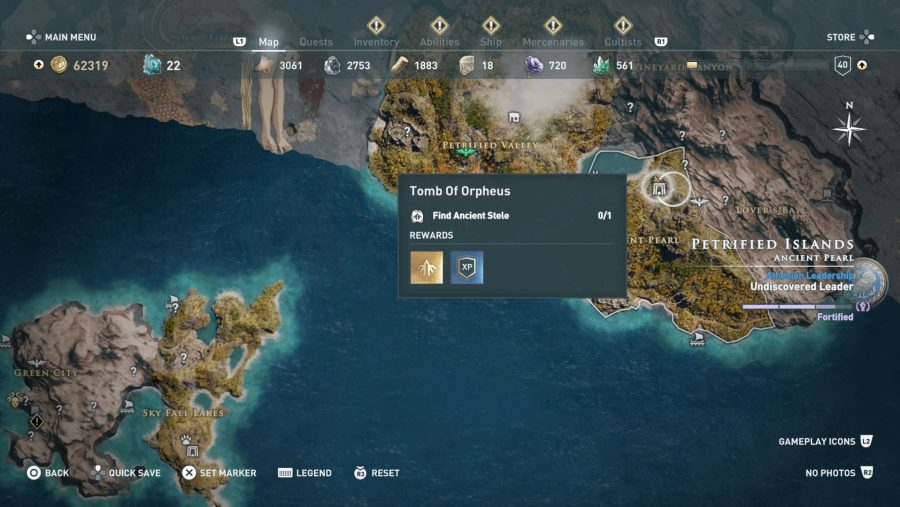 All Assassins Creed Odyssey Tomb locations - Tomb of Orpheus