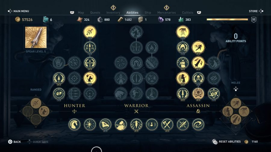 All Assassin's Creed Odyssey abilities assassin