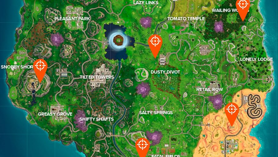 All Fortnite Shooting Galleries locations