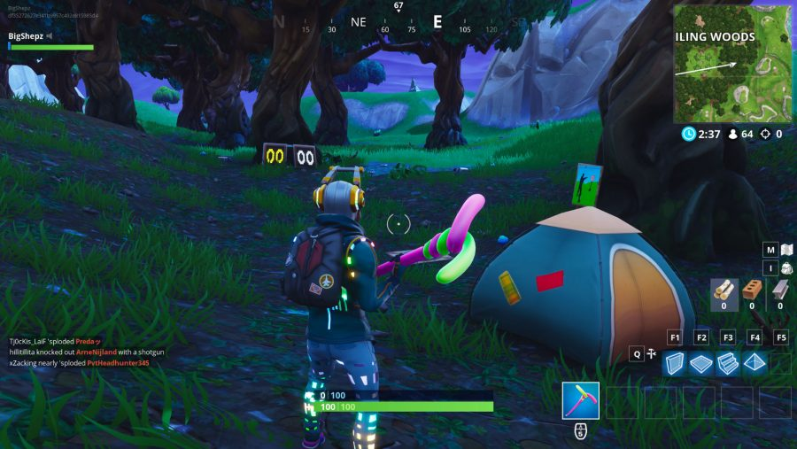 All Fortnite Shooting Galleries locations Wailing Woods