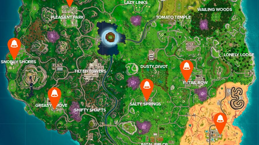 All Fortnite doorbell locations map