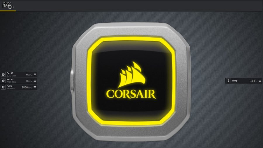 Corsair H100i Pro RGB iCUE Zero RPM mode