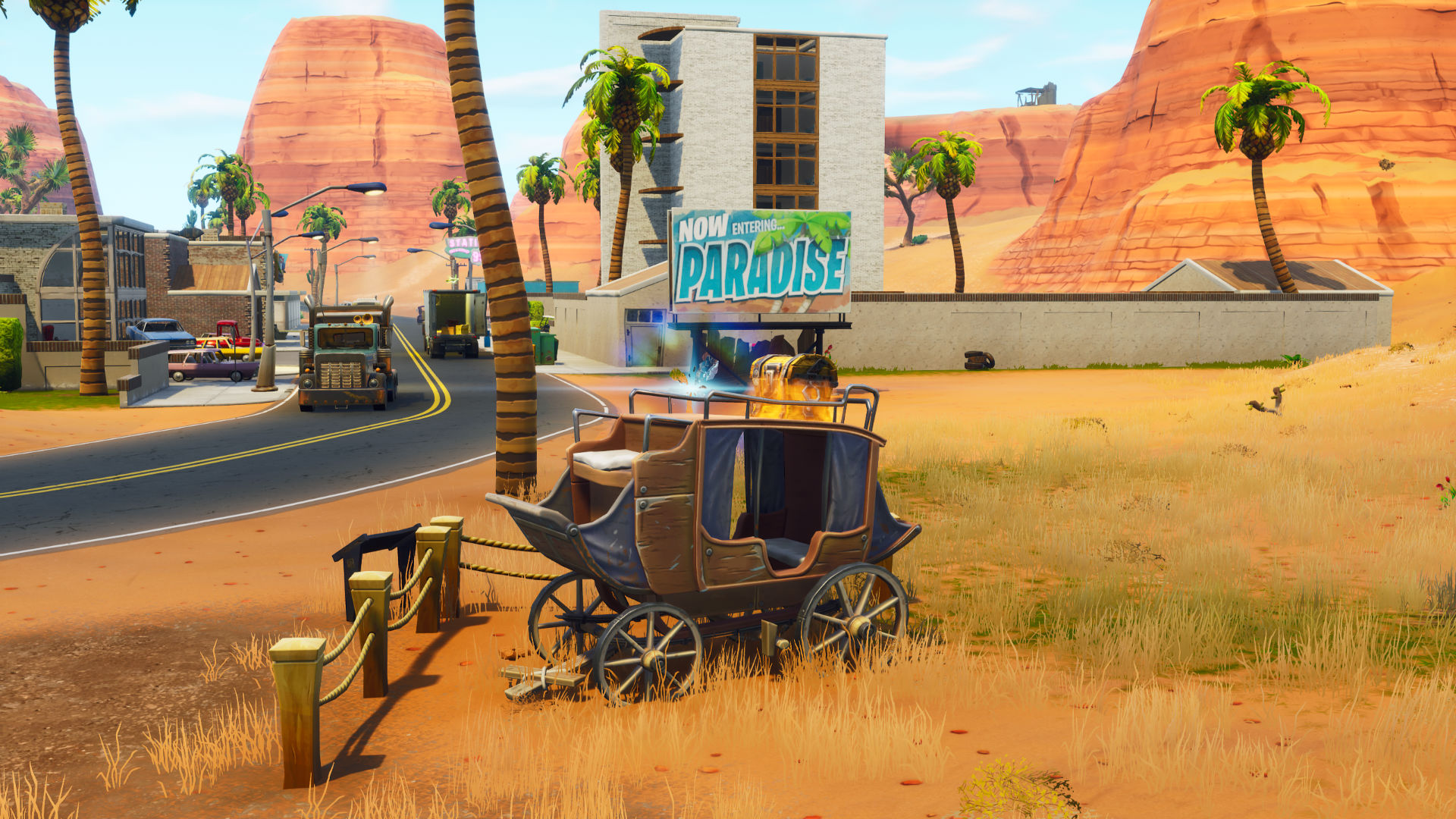 Fortnite Hunting Party Week 2: Find The Secret Banner Location Near  Paradise Palms