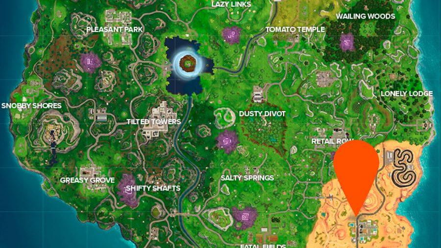 Fortnite Hunting Party week 2 secret banner location map