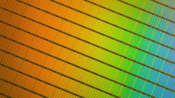 Intel 3D NAND wafer