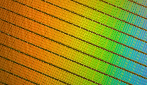 Intel 3D NAND wafer