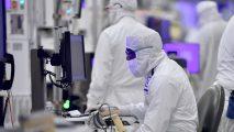 Intel manufacturing floor