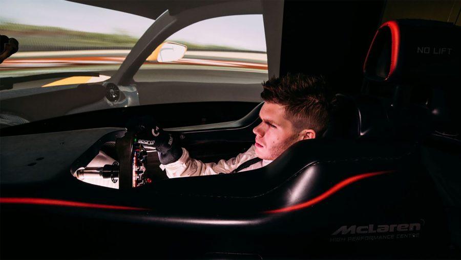 McLaren simulation test driver Rudy van Buren