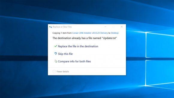 Windows copy permissions pop-up