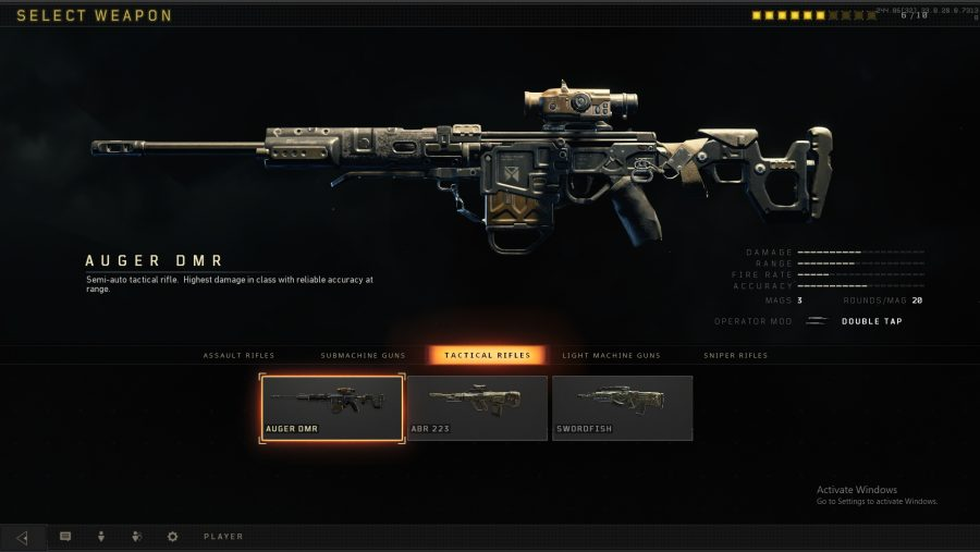 black ops 4 weapons auger dmr
