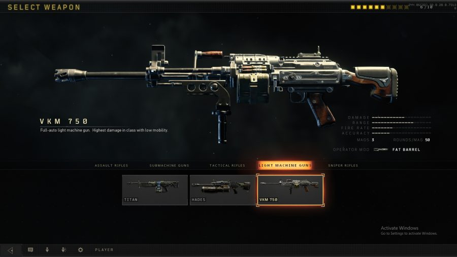 black ops weapons VKM 750