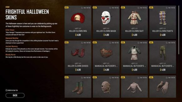 PUBG Halloween skins have leaked – and the prices are scary high