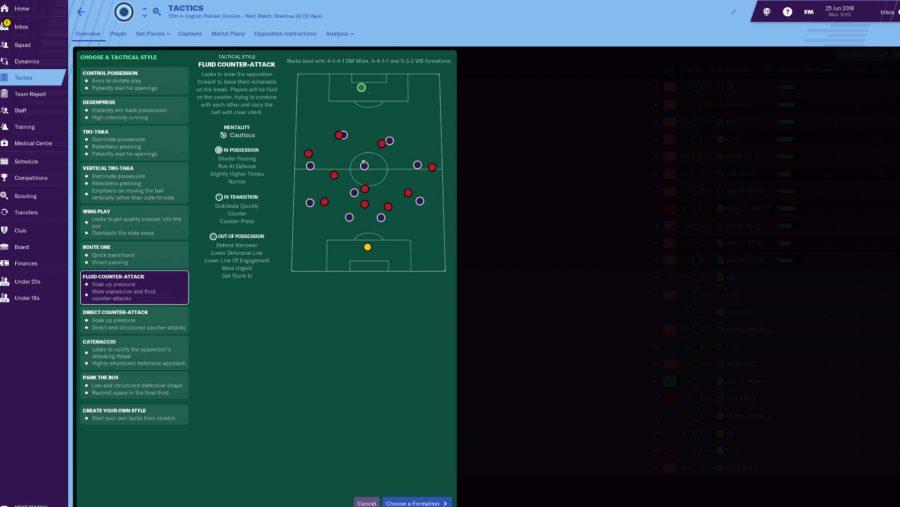 FM 19 tactics - Fluid Counter-Attack