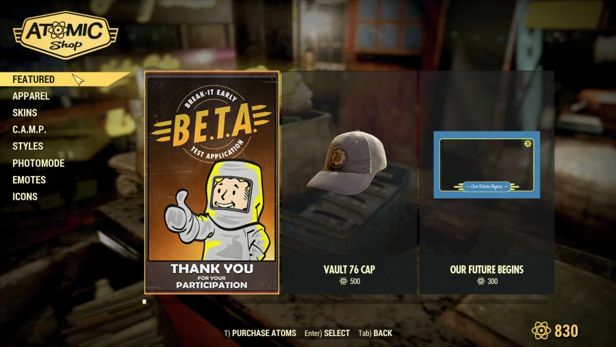 Fallout 76 Atomic Shop Featured