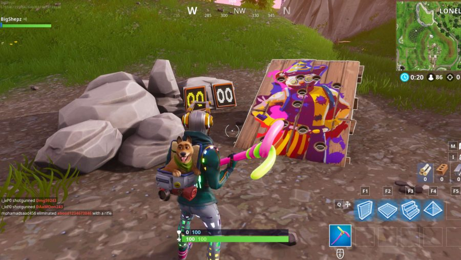 Fortnite Carnival Clown Boards locations Lonely Lodge